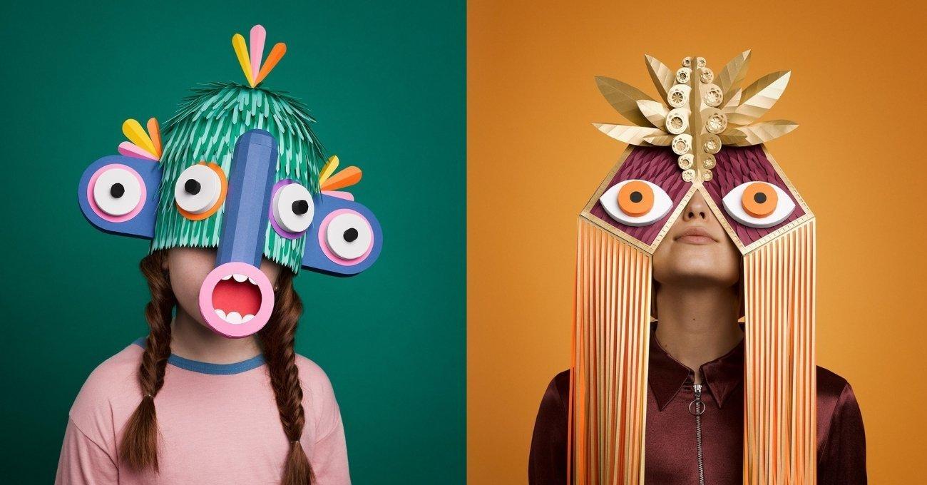 Festival Ruhunu Yansıtan Kağıt Maskeler