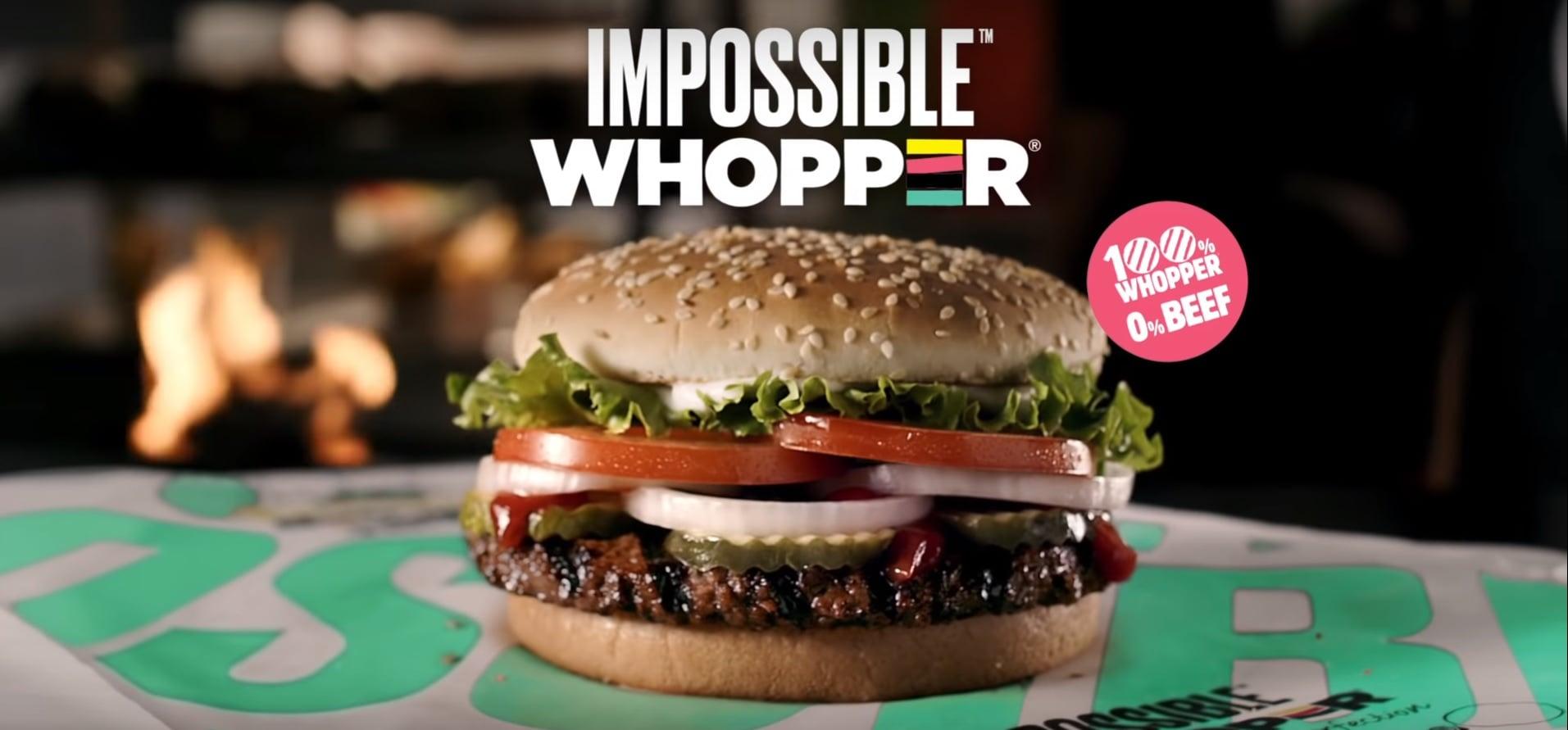 Burger King'den Hayvansal Gıda İçermeyen Impossible Whopper