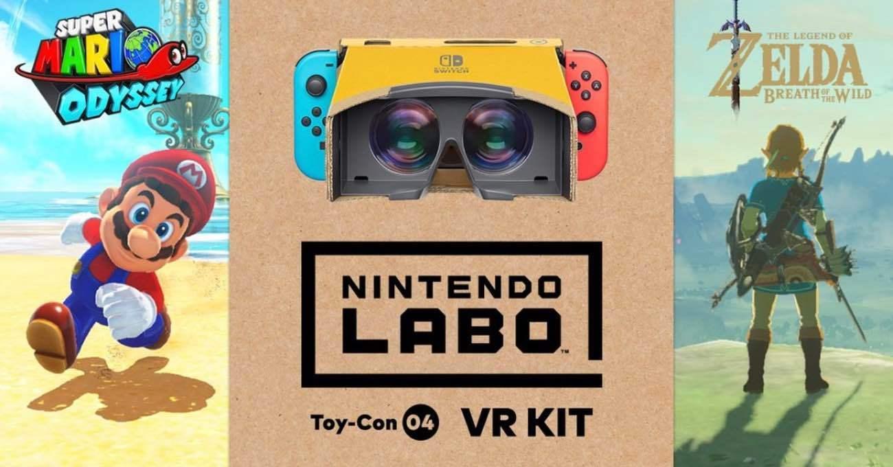 Nintendo Labo ile Sanal Gerçeklikte Mario ve Zelda Oynanabilecek