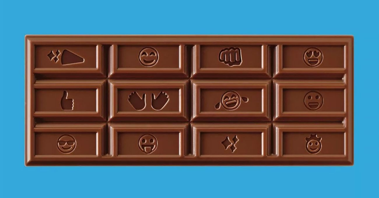 Milk Chocolate Emoji Bars