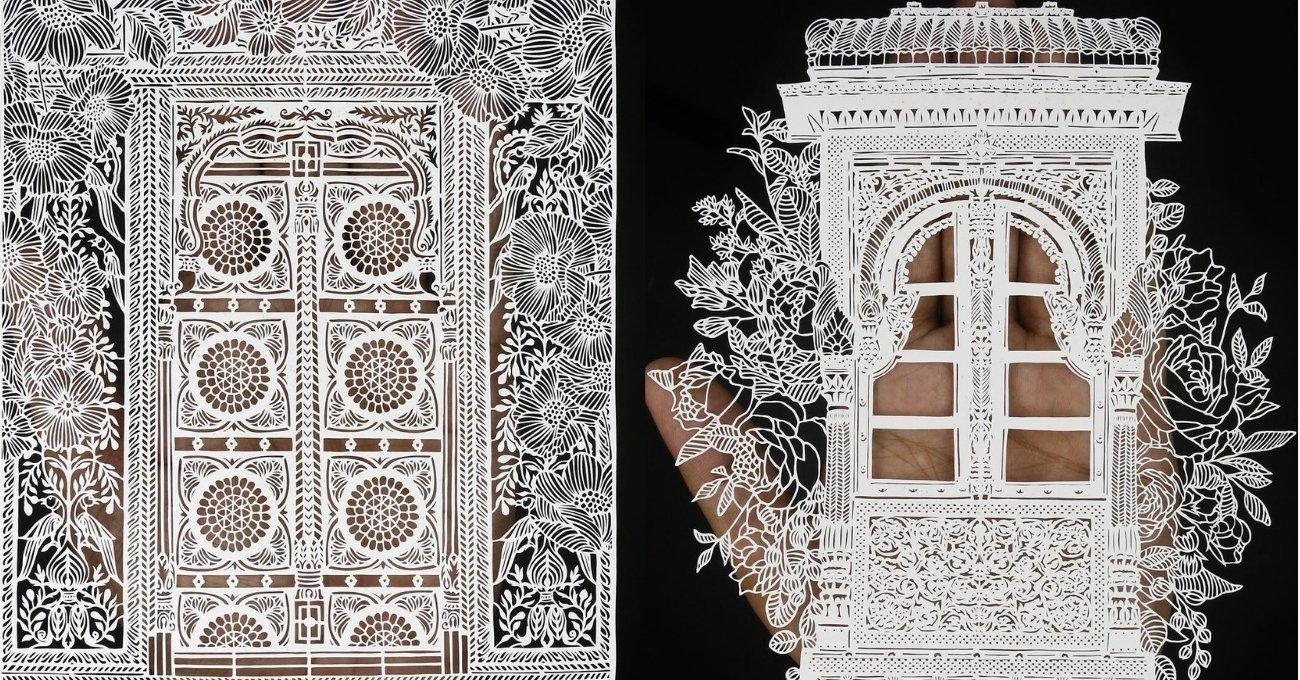 Kağıt Kesme Sanatında Geleneksel Hint Mimarisi