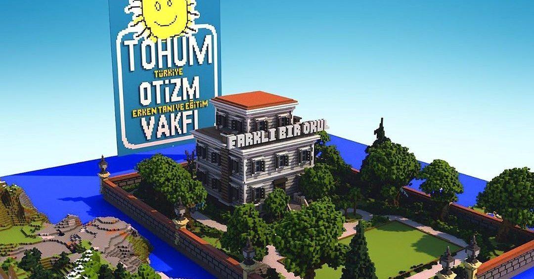 Tohum Otizm Vakfı'ndan Minecraft İçinde Farklı Bir Okul