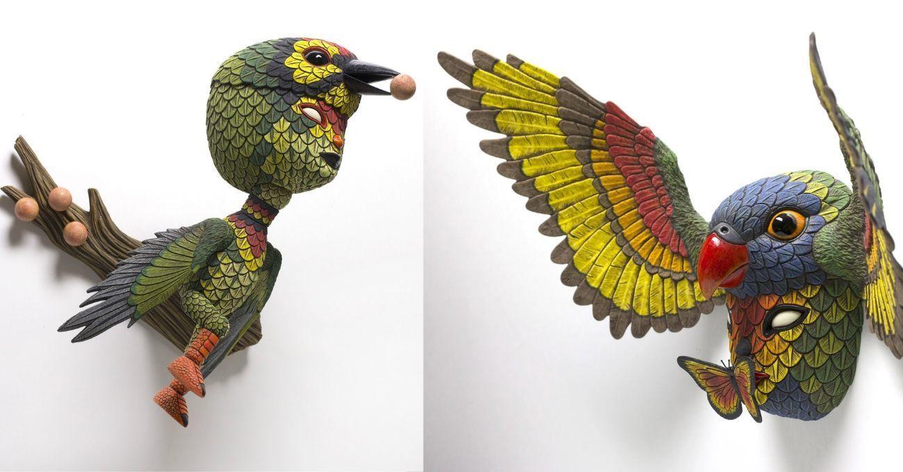 Yarı İnsan Yarı Kuş Hibrit Heykeller