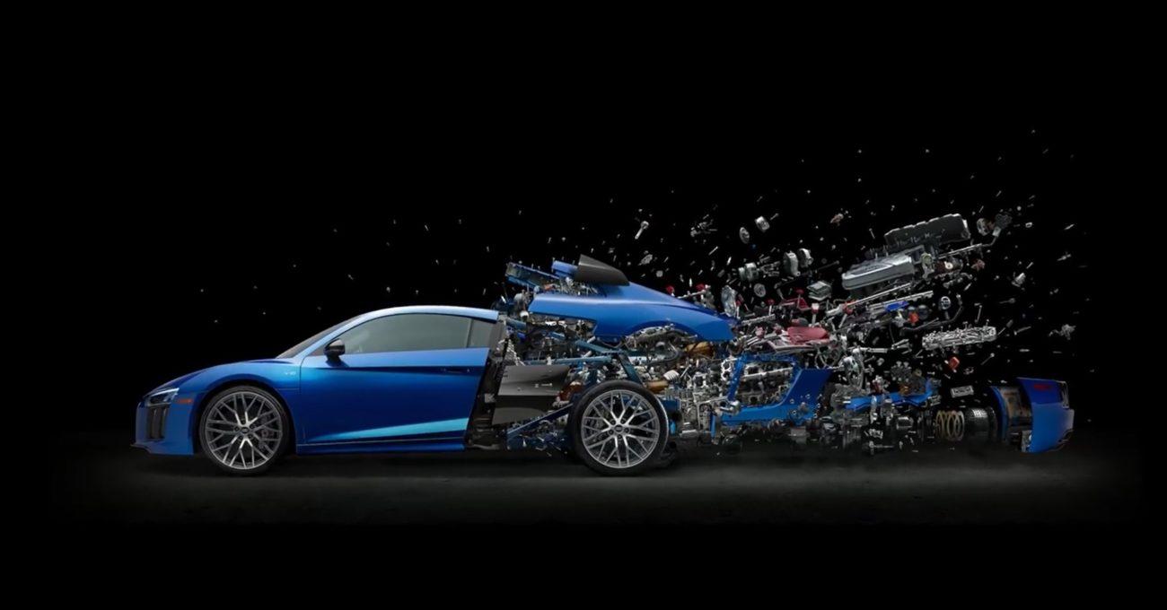 Parçalanmış Audi R8'in Sanat Eserine Dönüşümü