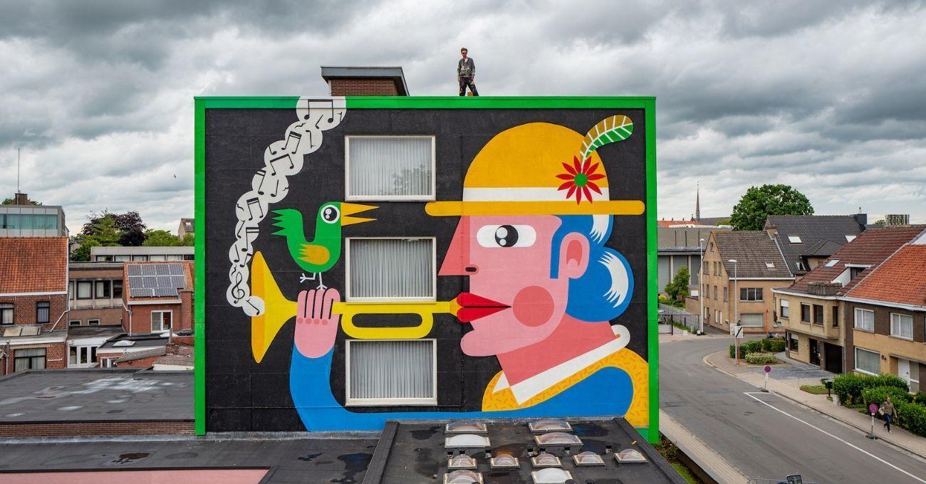 İllüstratif Karakterlerle Renklenen Duvarlar