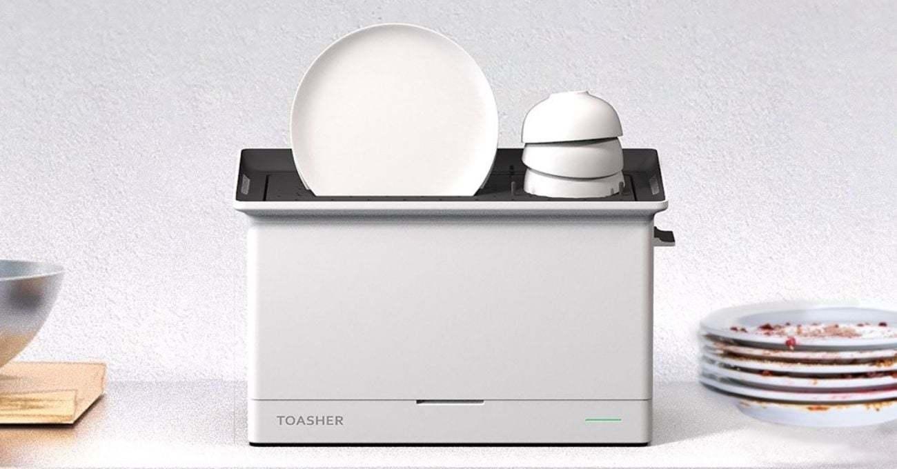Ekmek Kızartma Makinesinden İlham Alan ve Su Tesisatı Gerektirmeyen Bulaşık Makinesi