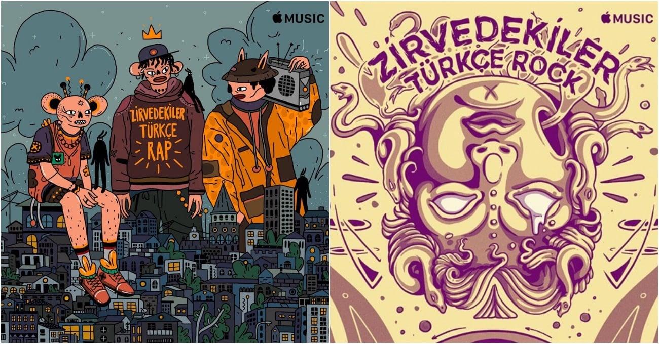 Yerli Sanatçılar Apple Music'in Çalma Listesine Kapak Tasarladı