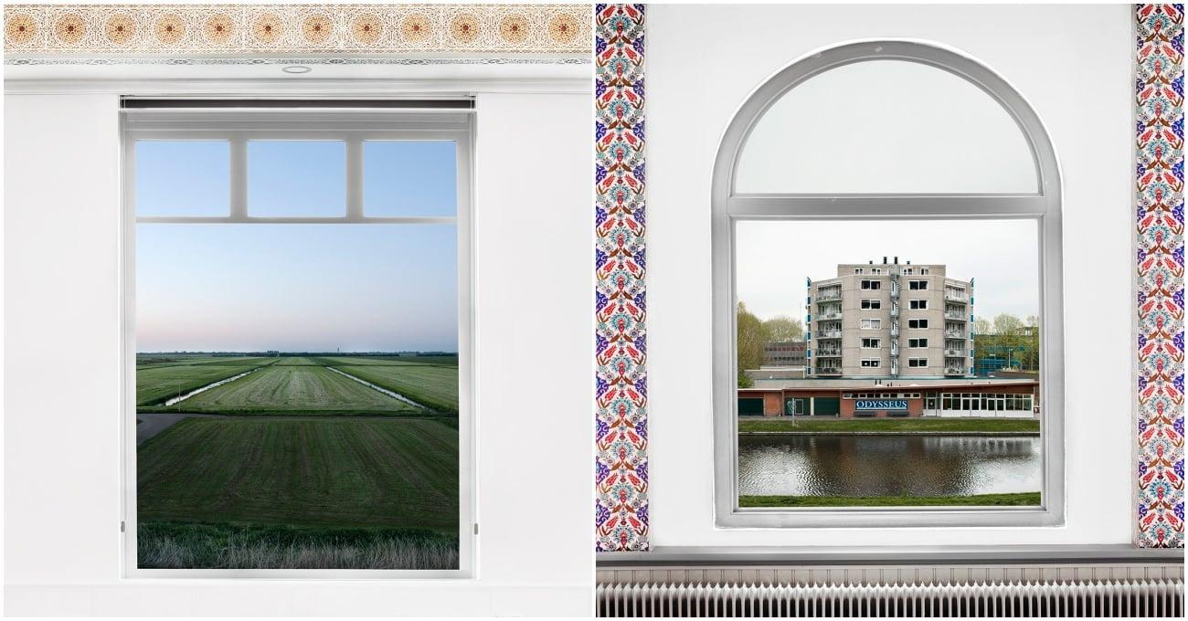 Camilerin İçinden Hollanda Manzarası