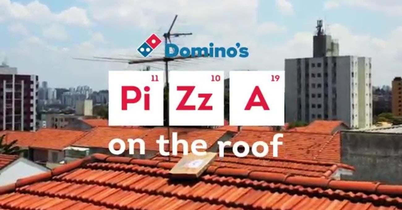Domino's Şubelerinin Çatısında Pizza Kutusu Avı