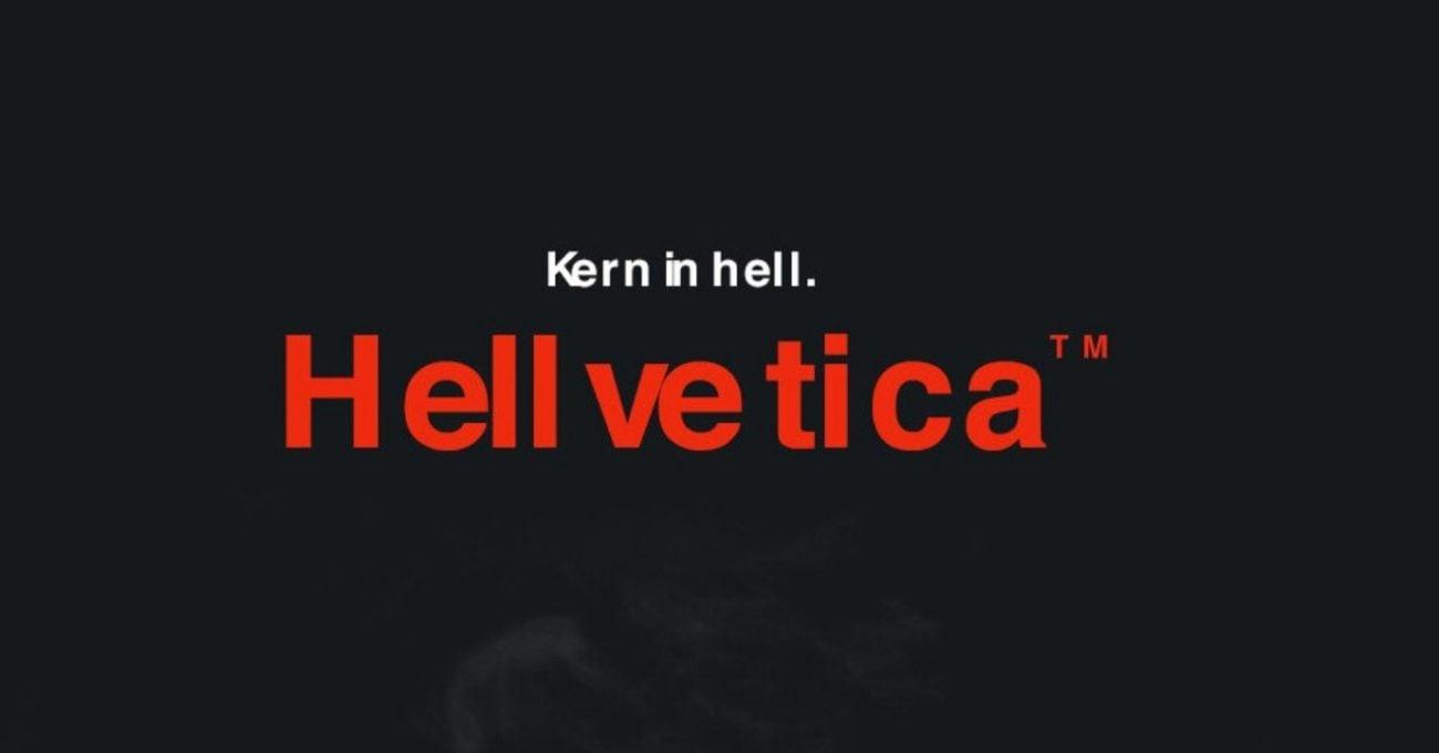 Helvetica'ya Cadılar Bayramı Ayarı: HELLvetica