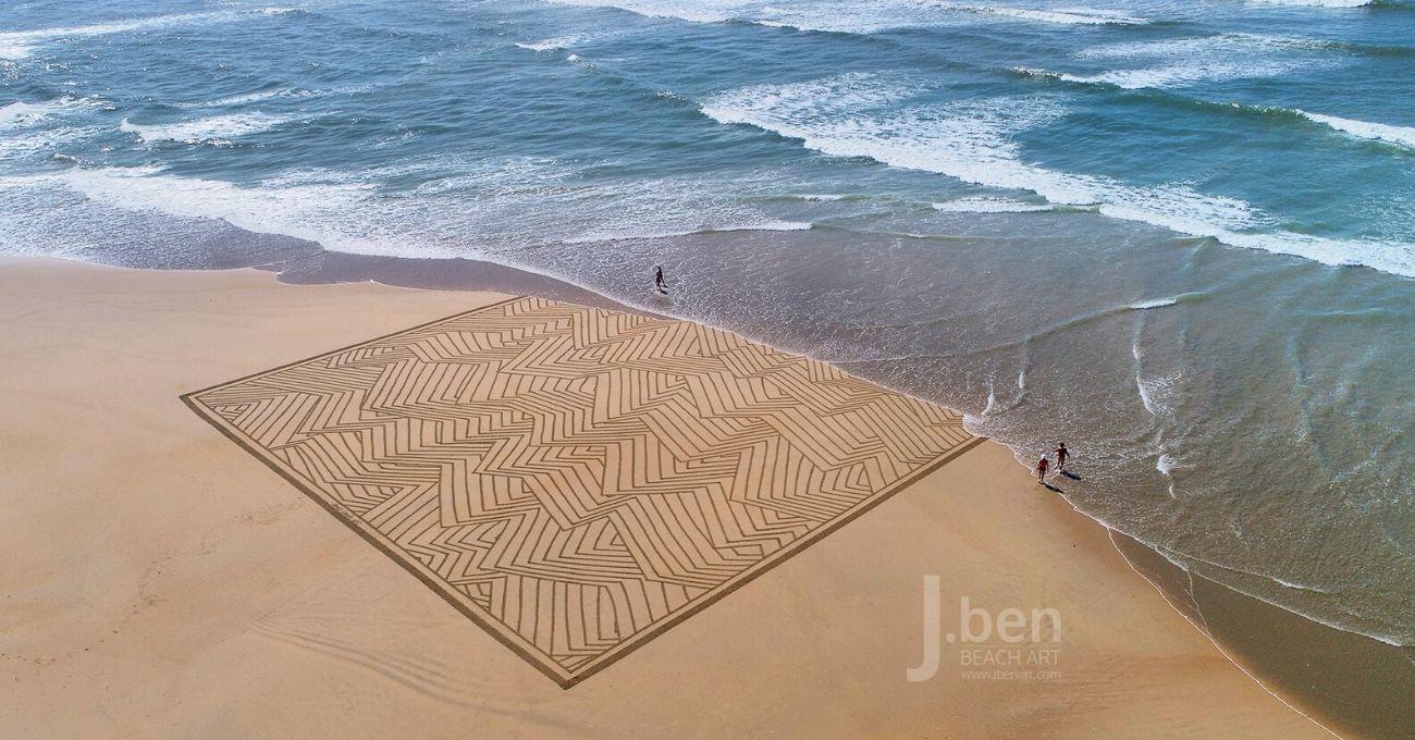 Sadece Birkaç Saatliğine Kalıcı Olabilen Dev Kumsal Çizimleri