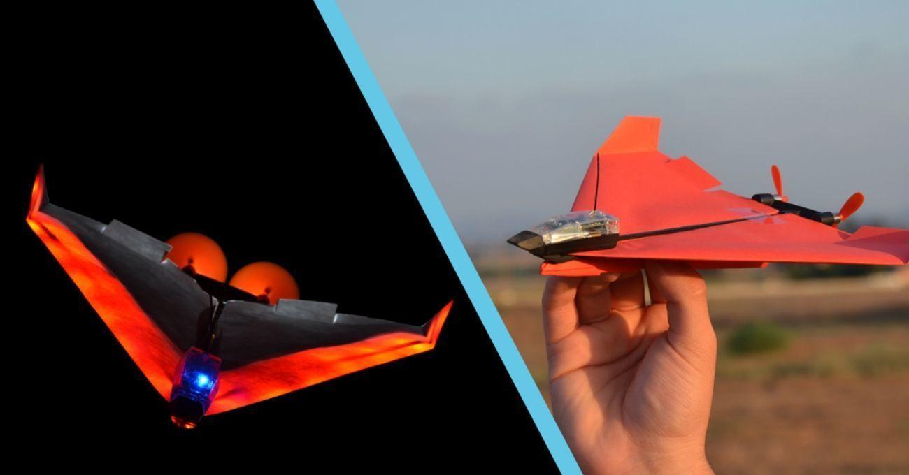 Akıllı Telefonla Kumanda Edilen Kağıt Uçak: POWERUP 4.0