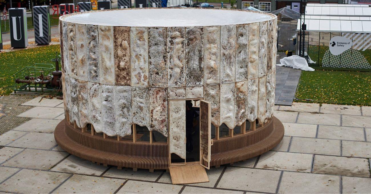 Hollanda Tasarım Haftası'nda Kendi Kendine Büyüyen Mantar Yapı