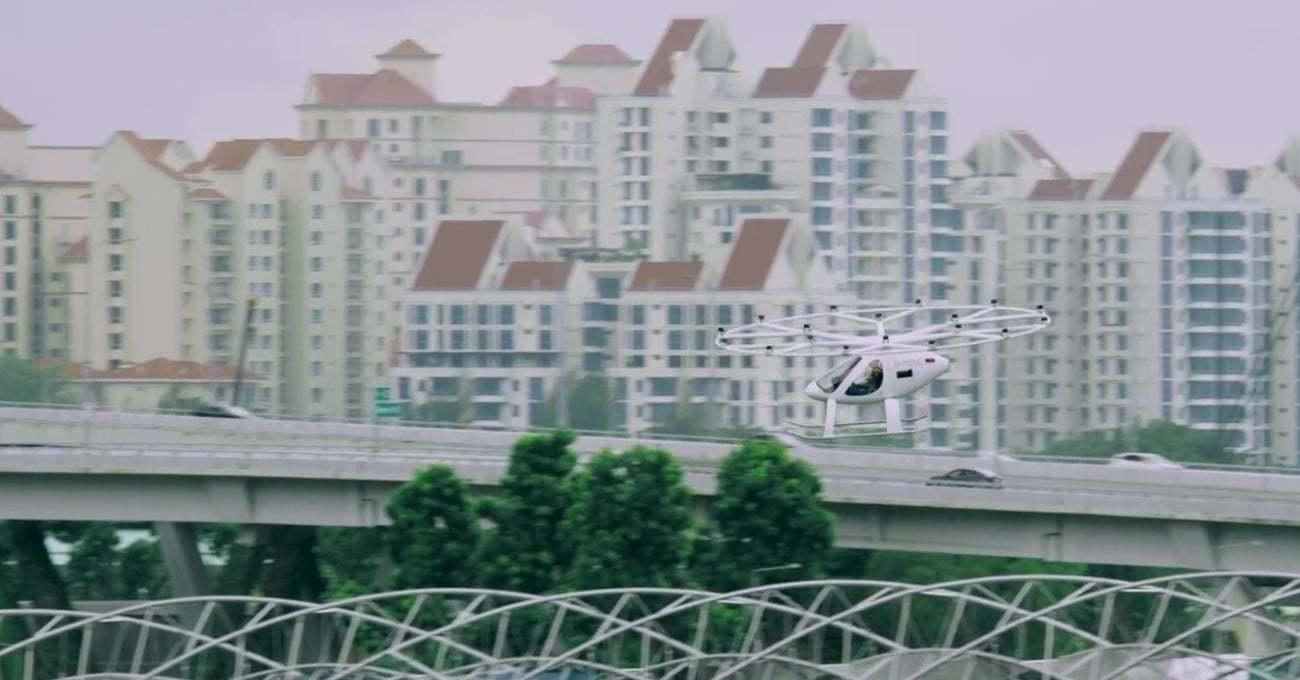 Hava Taksi Volocopter'in İlk Durağı Singapur'da Açıldı [Web Summit 2019]