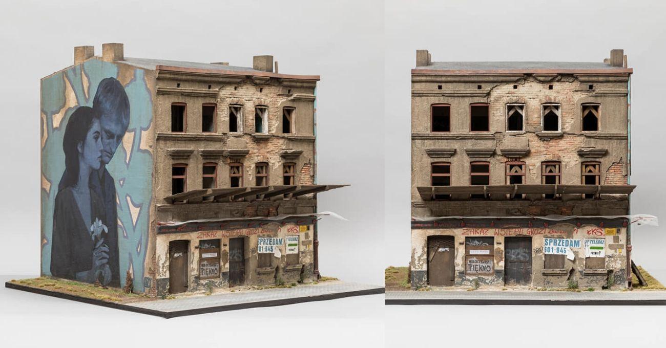 Joshua Smith'in Minyatür Bina Modeli Üzerine Bezt'ten Mural