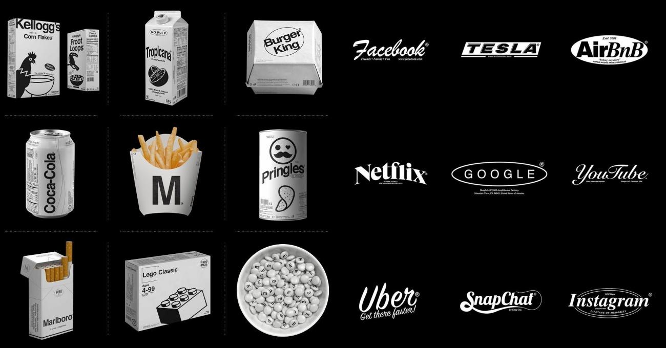 Logolar ve Ambalajlar Renksiz Olsaydı Nasıl Görünürdü?