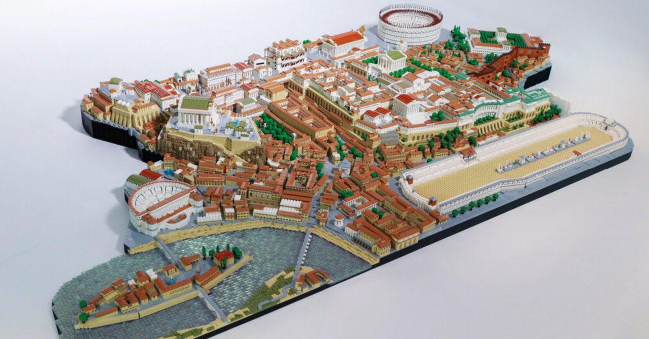 66 Bin LEGO Parçası ile Hazırlanan Antik Roma Manzarası