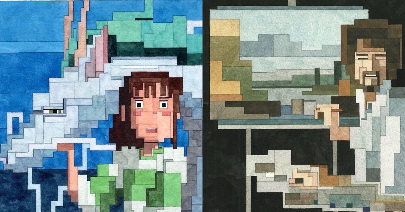 8-Bit Sulu Boya Resimler