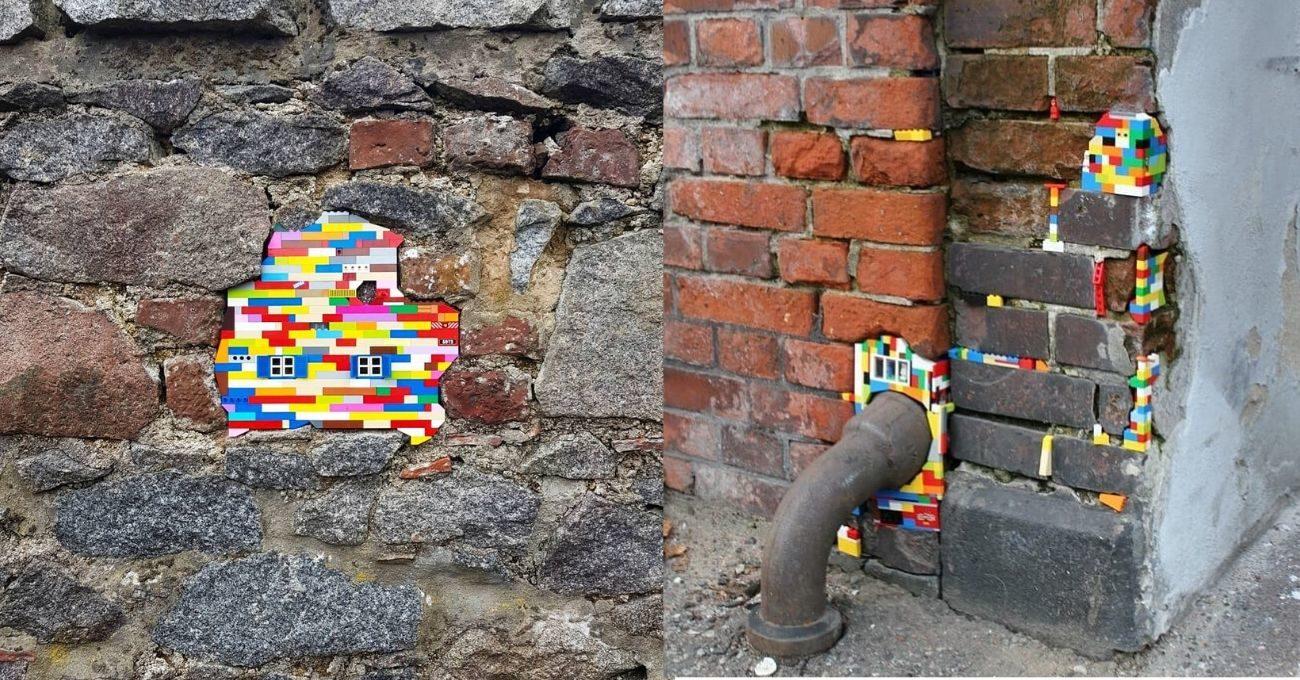 Sokaklardaki Boşlukları LEGO Yamalarla Doldurmak