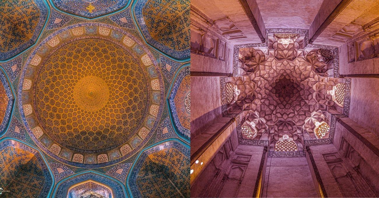 Tarihi İran Yapılarından Büyüleyici Desenler