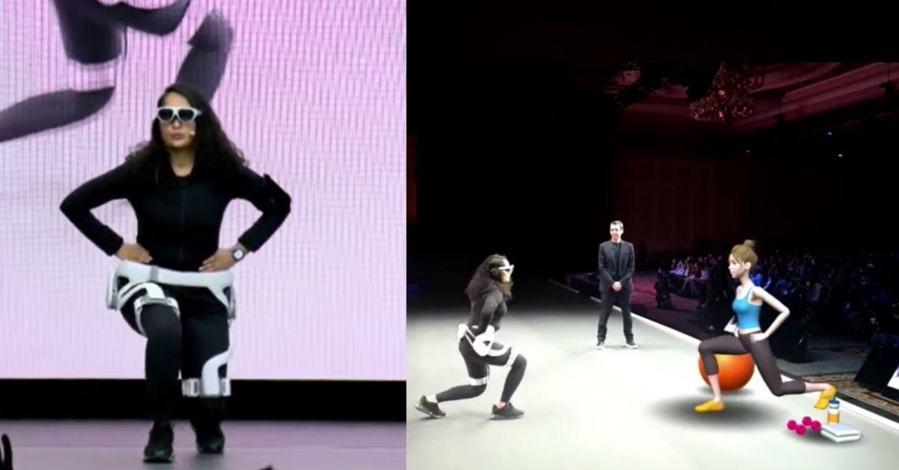 Samsung'un Dış İskeleti GEMS ile Artırılmış Gerçeklikte Egzersiz Deneyimi