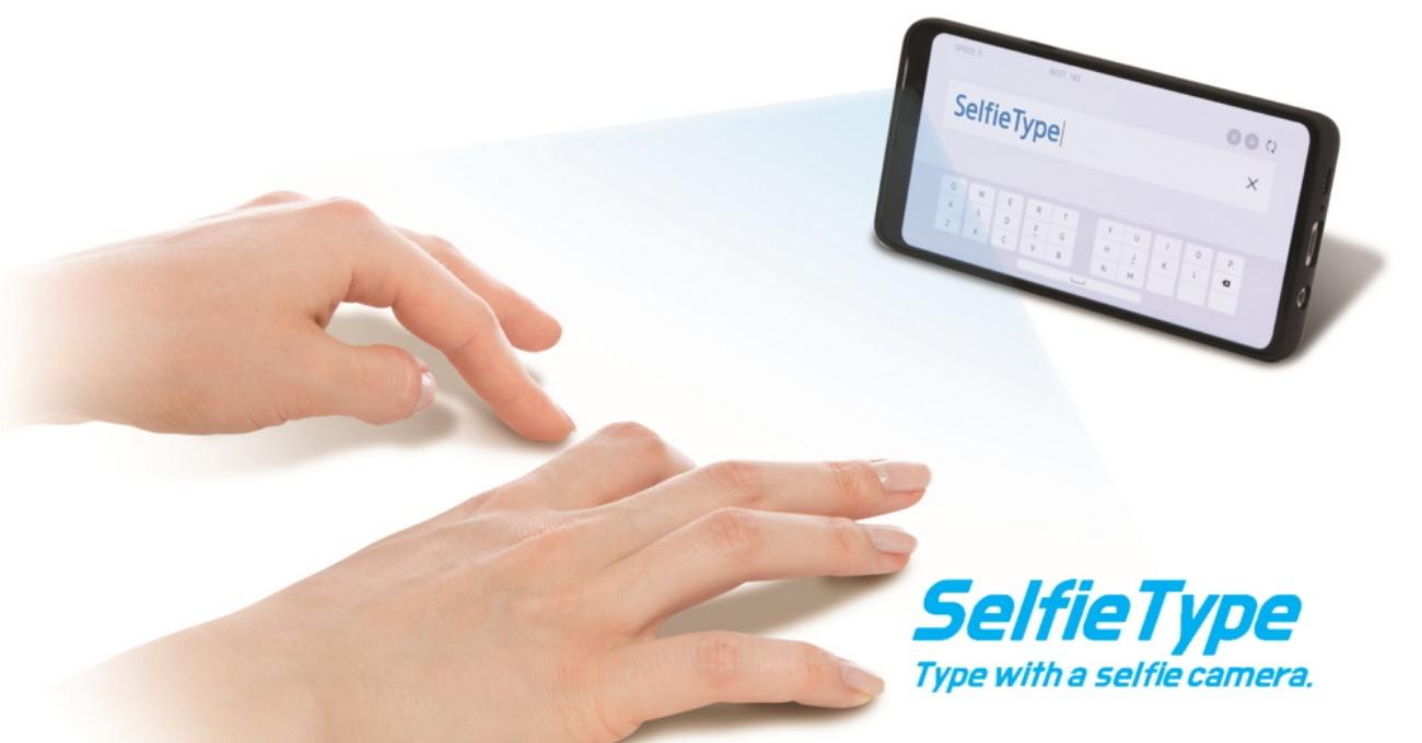 Samsung'un Masa Üzerine Yansıyan Görünmez Klavyesi: SelfieType