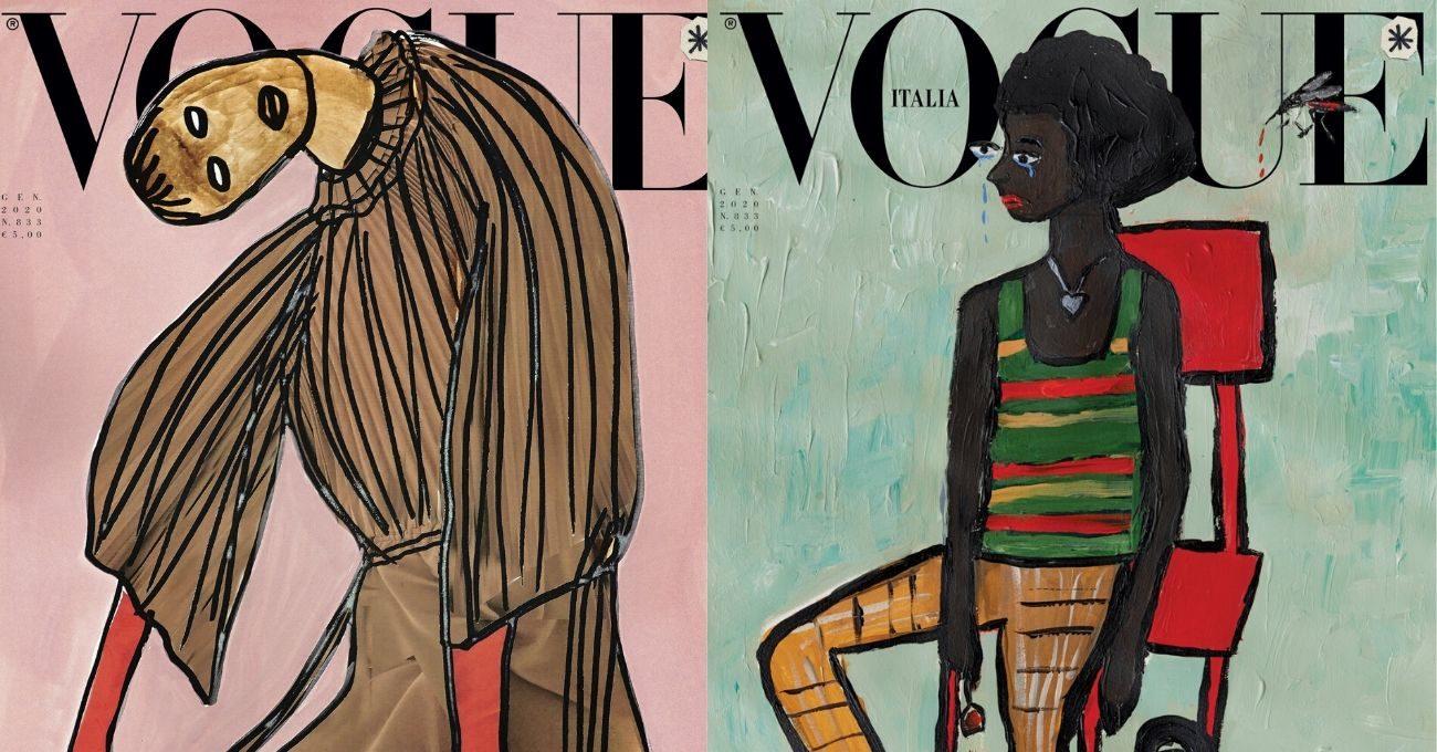 Vogue İtalya Fotoğraf Yerine İllüstrasyonlarla Çıkarak Çevre Duyarlılığını Gösterecek