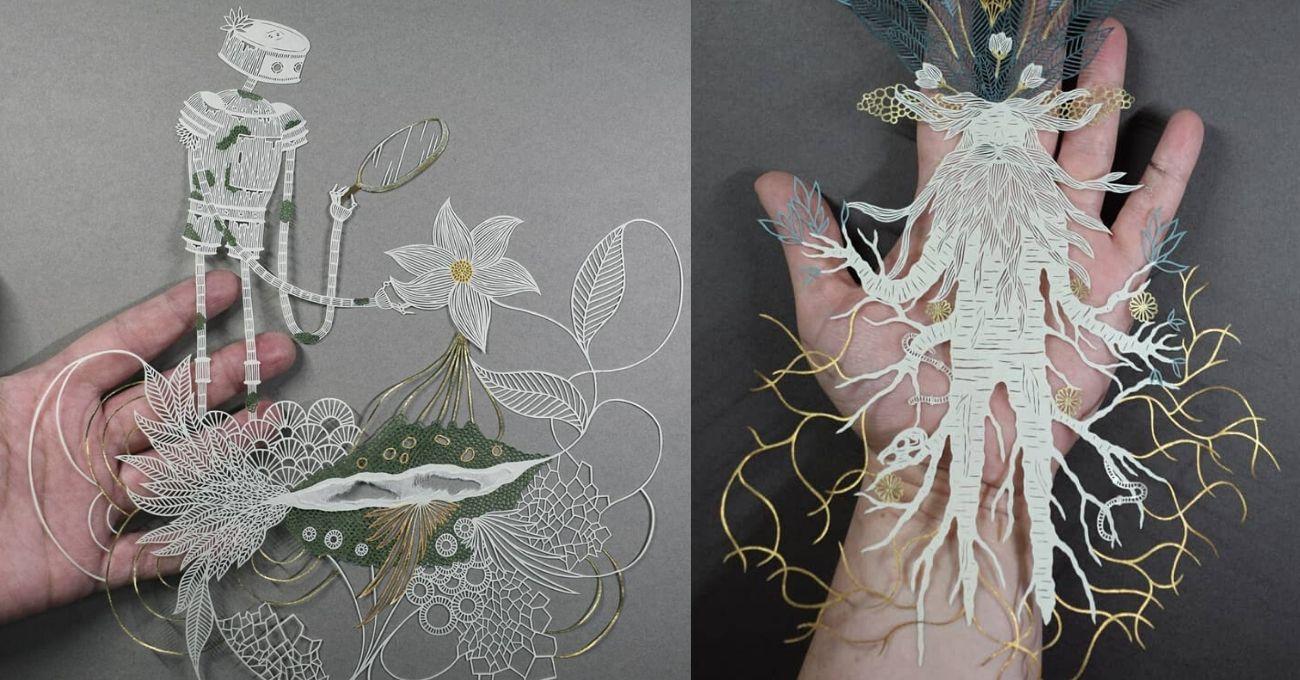 Pippa Dyrlaga Renkli Kağıtlarla Yeni Kompozisyonlar Üretiyor
