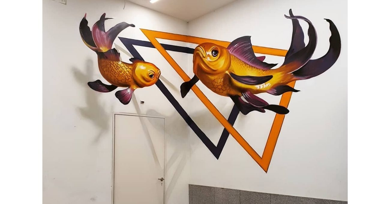 Çevresiyle Etkileşime Giren Optik Yanılsamalı Murallar