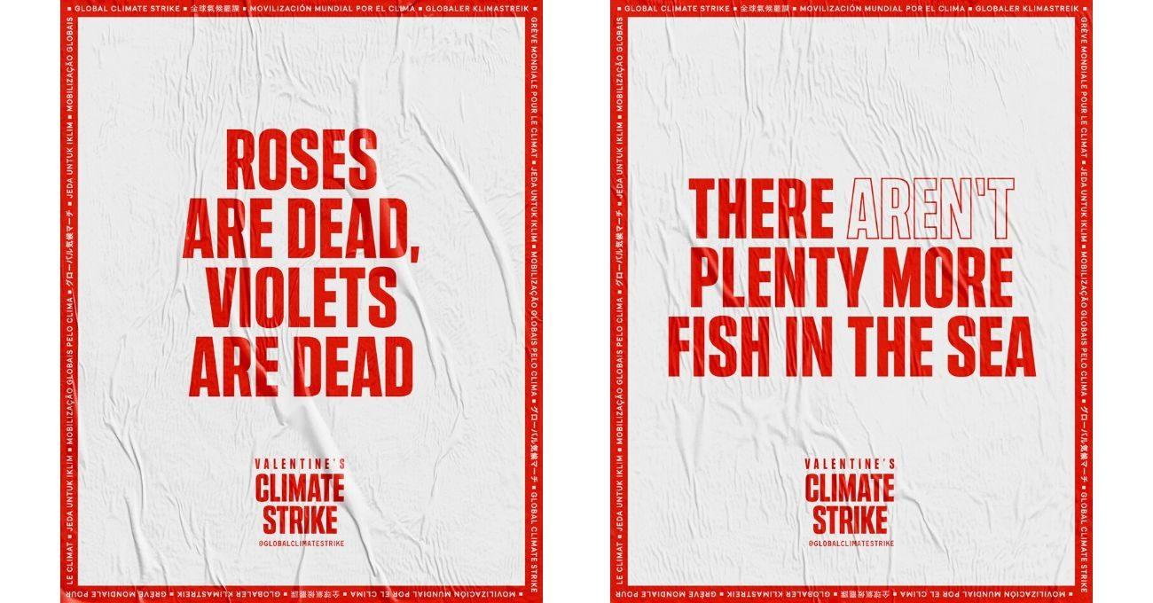 Sevgililer Günü'nde Gerçekleşecek İklim Grevine Özel Posterler