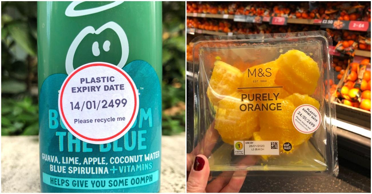 Satın Alınan Tek Kullanımlık Plastiğin Ne Zaman Çözüneceğini Hatırlatan Etiketler