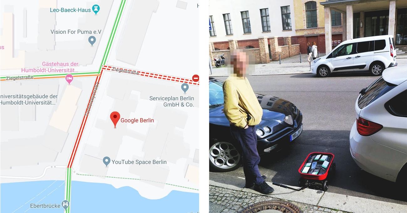 99 Telefonla Google Maps'te Sanal Trafik Sıkışıklığı Yaratmak