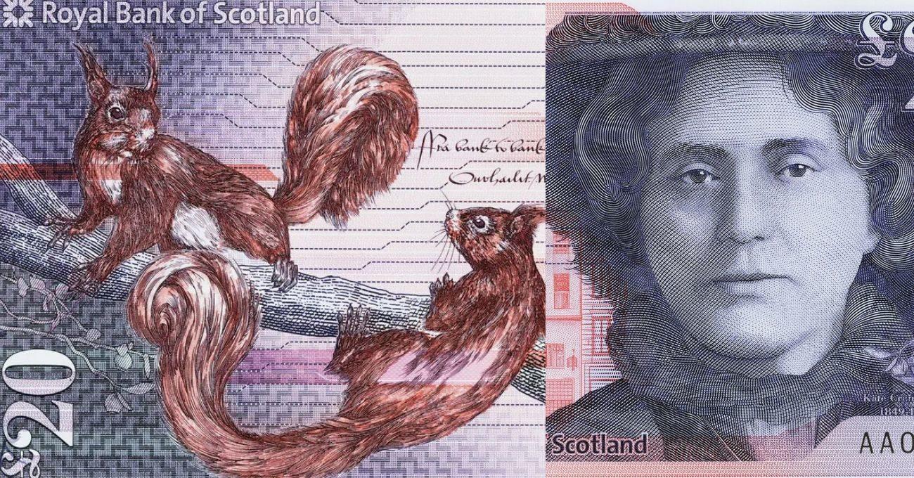 Ünlü Kadınların Portreleri ve Yaban Hayatı ile Yenilenen İskoçya Banknotları