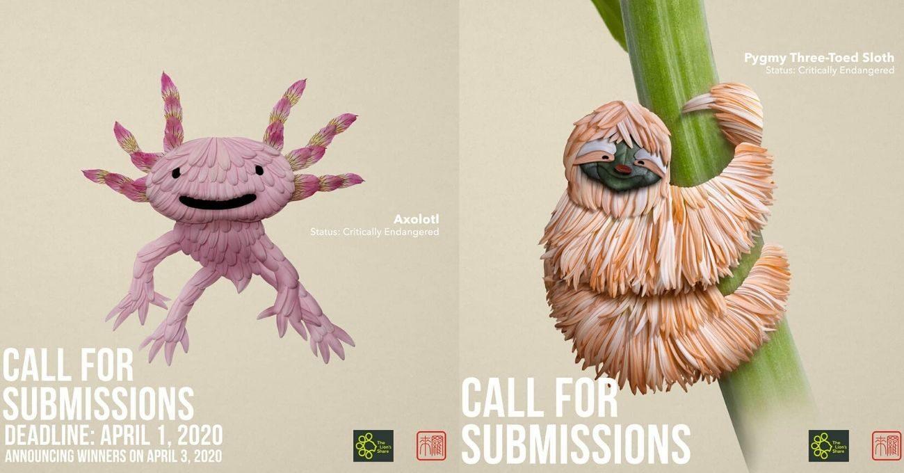 Tehlike Altındaki Türlere Yapraklarla Hayat Veren Yarışma Afişleri