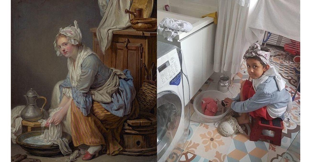 Getty Müzesi Sanat Eserlerini Evinizdeki Eşyalarla Yeniden Canlandırmaya Çağırıyor