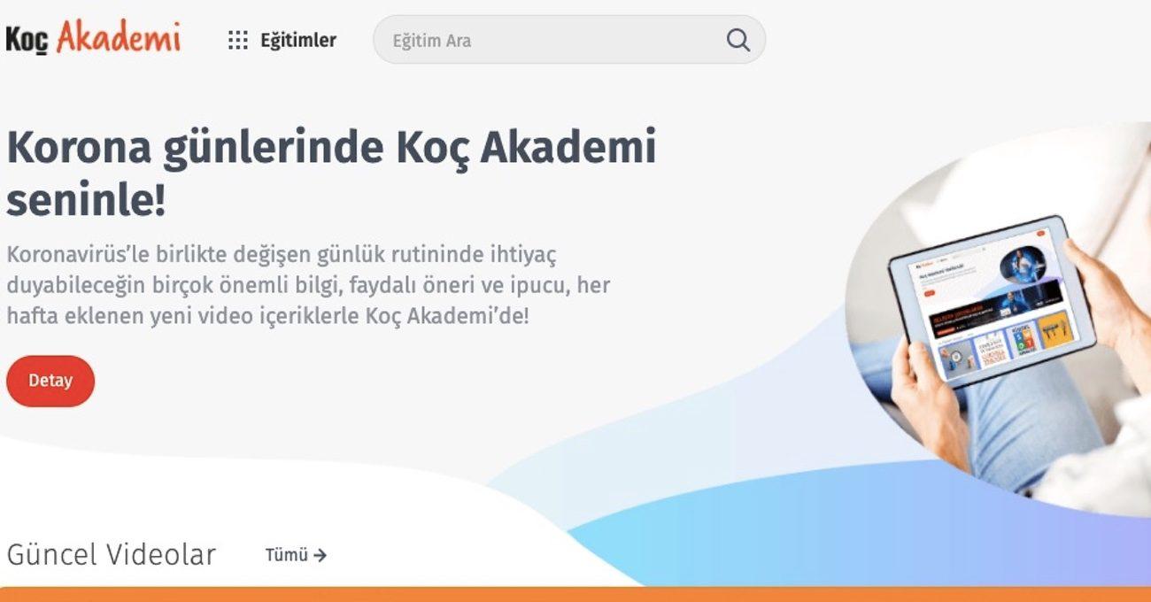 Koç Holding, Koç Akademi Eğitimlerini Ücretsiz Erişime Açtı