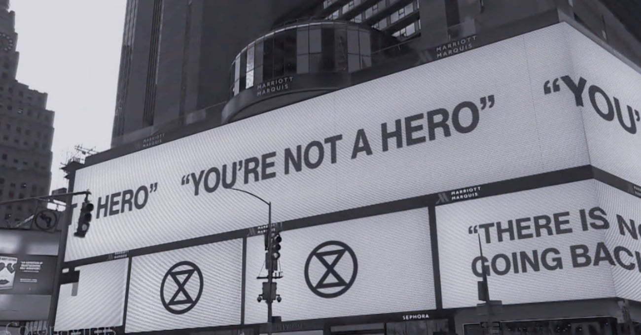 Yokoluş İsyanı'ndan Uyarı: Kahraman Değilsiniz!