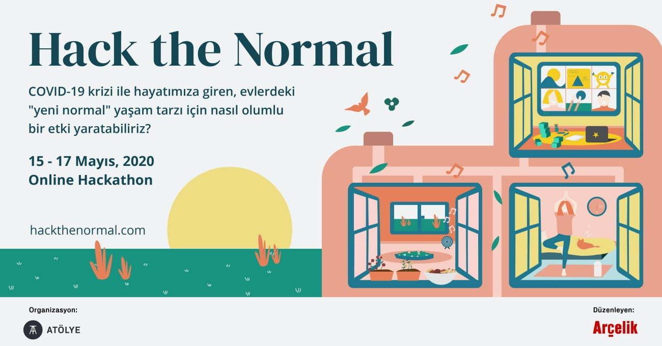 Arçelik ve ATÖLYE'den Çevrimiçi Yaratıcı Fikirler Hackathonu: Hack the Normal