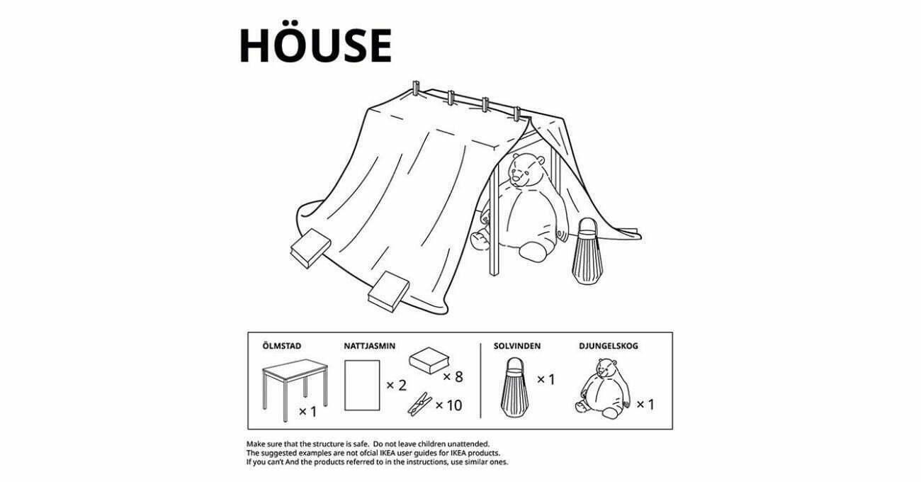 IKEA'dan Karantinadaki Çocuklar İçin Oyun Evi Kılavuzları