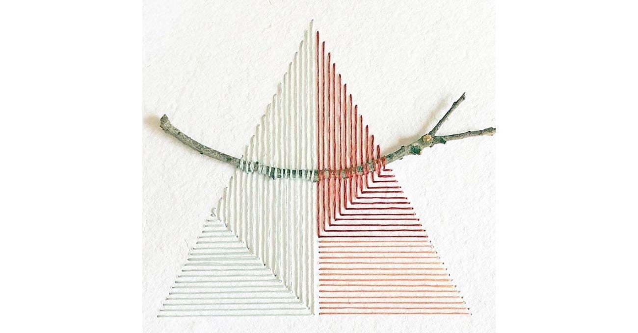 Doğadan Malzemelerle Tamamlanan Geometrik Nakışlar