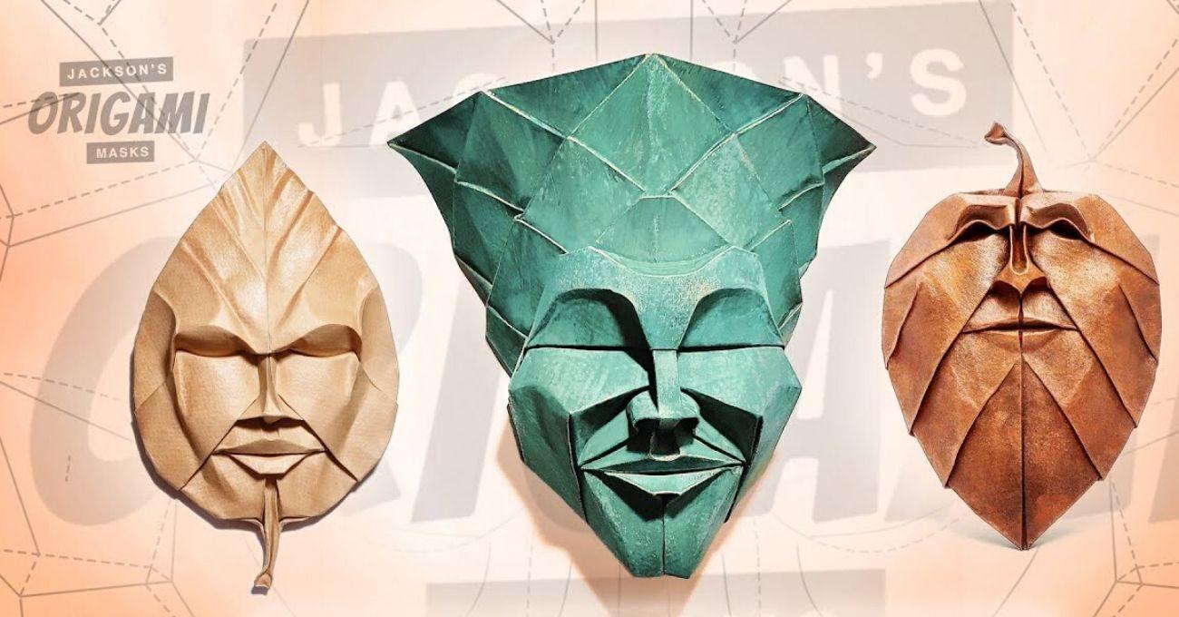 Minyatür Origami Maskeler