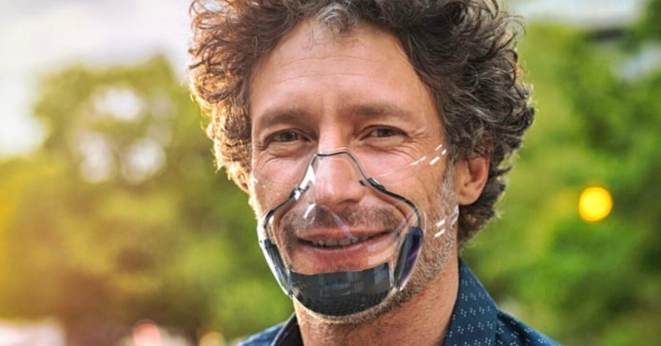 Sterilize Edilip Yeniden Kullanılabilen Şeffaf Maske: LEAF