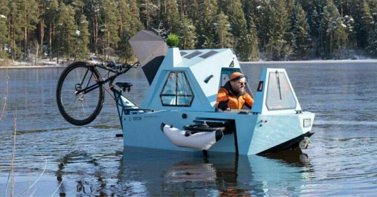 Hem Bisikletli Karavan Hem Tekne