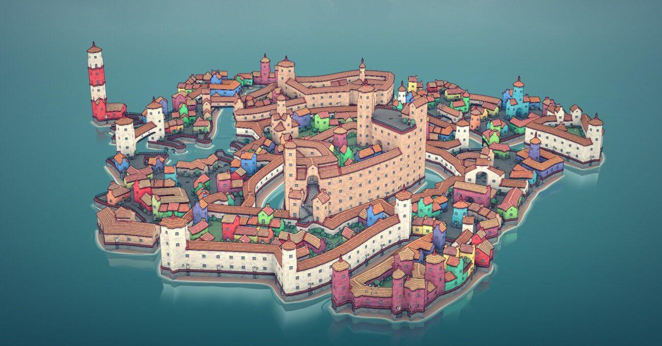 Yüzen Adacıklarda Şirin Yapılar: Townscaper