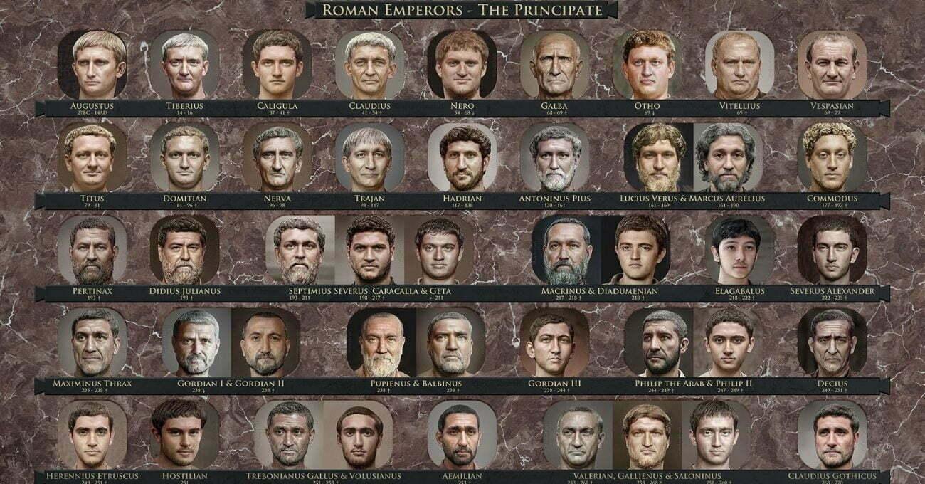 Roma İmparatorlarının Fotogerçekçi Portreleri