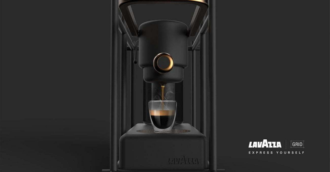 Piet Mondrian Tablolarından İlham Alan Espresso Makinesi
