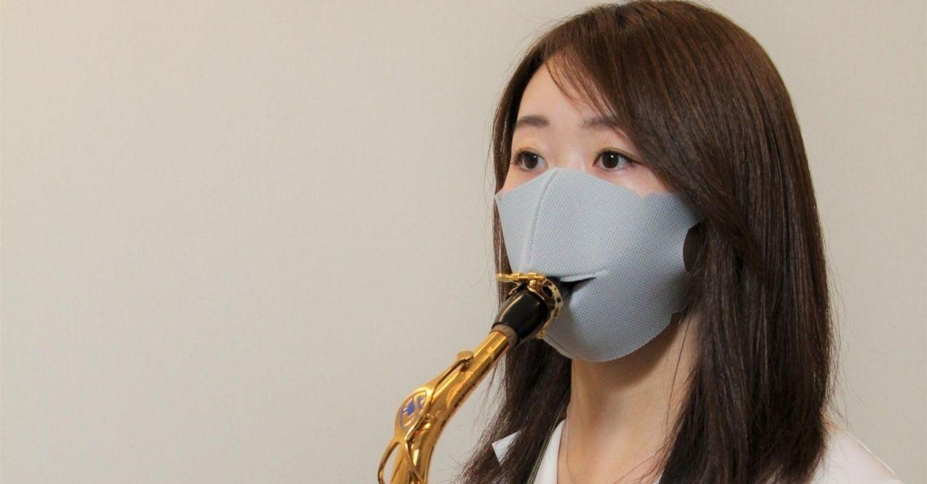 Enstrüman Çalarken COVID-19'dan Korunmayı Sağlayan Maske