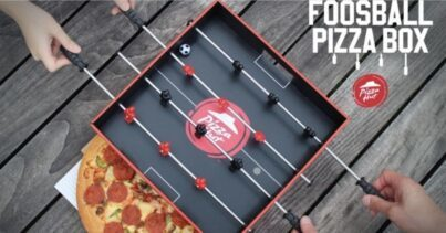 Foosball Pizza Box