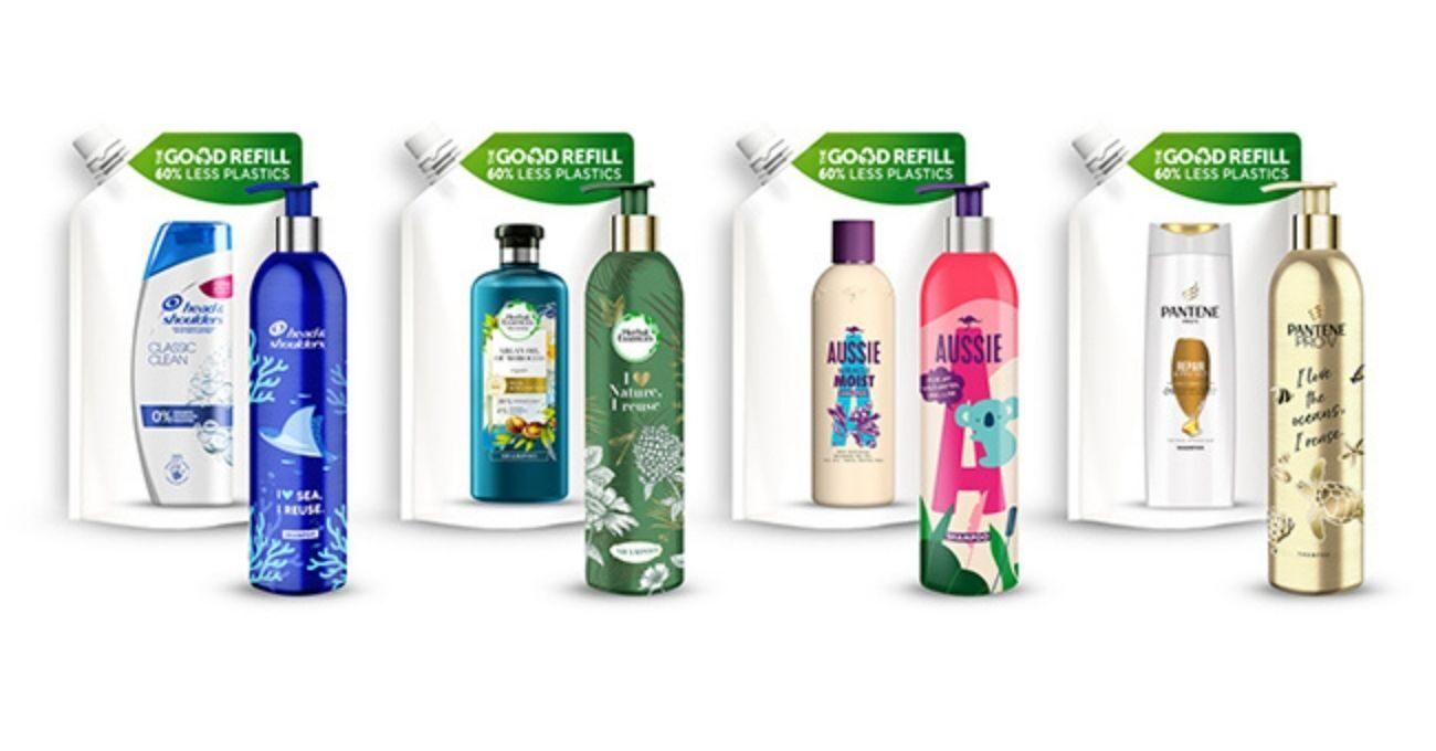 P&G Yeniden Doldurulabilir Şampuan Şişesi Sistemini Tanıttı