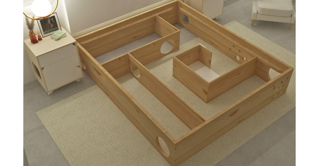 Bu Yatağın Altında Kediler İçin Oyun Alanı Saklı